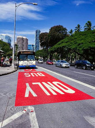 TheBus only lane Dec 2020