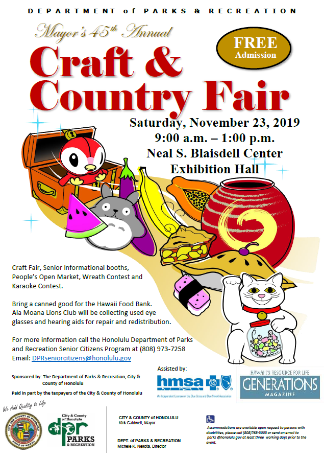 Honolulu Christmas Craft Fairs 2020 Craft & Country Fair