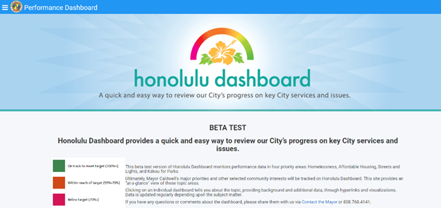 City launches new performance dashboard